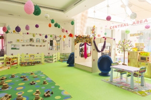Children's nursery with games, gadgets, relaxing and playing area