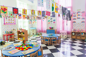 Bright, clean, clutter-free zone for your li'l one's fun learning