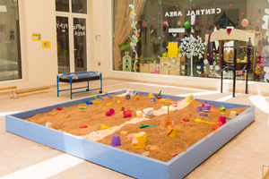 Water and sand play area for kids at Cambridgeshire